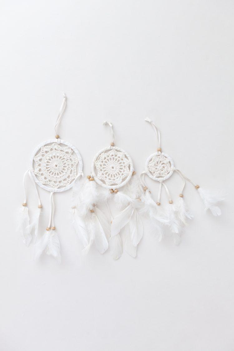 Dromenvangers wit cotton
