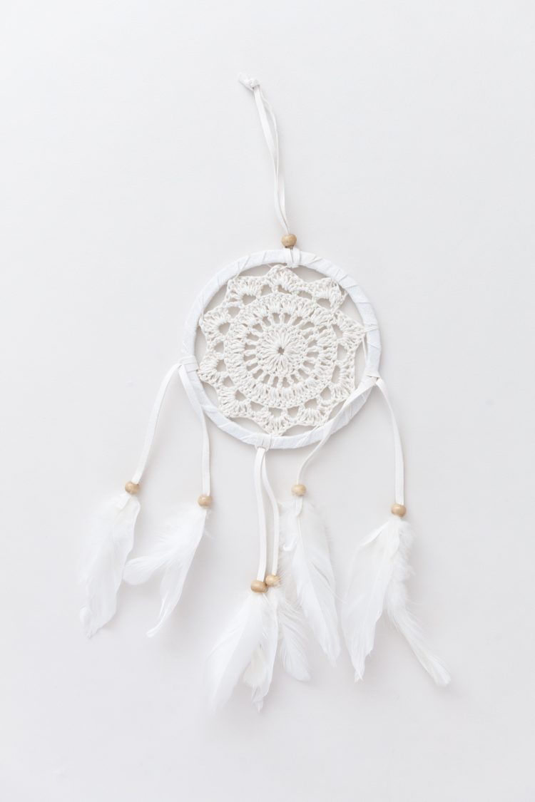 Dromenvanger wit cotton 12 cm
