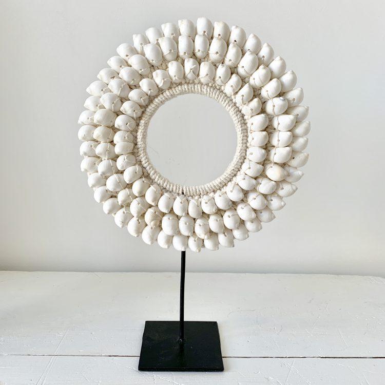 Schelpencirkel wit large