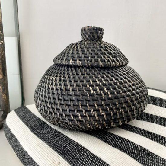 Rotan Bowl Zwart