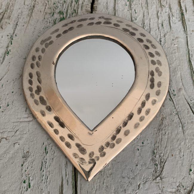 Marrokkaanse spiegeltjes zilver druppel