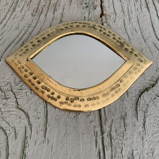Marokkaanse spiegeltjes messing medium oog