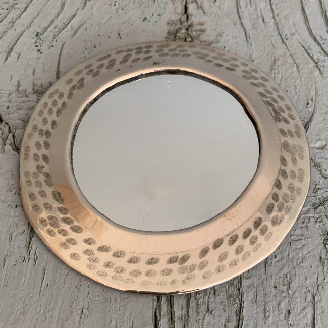 Marrokkaanse spiegeltjes zilver rond