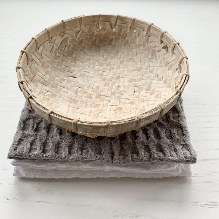 Bamboe Offerschaaltje Whitewash