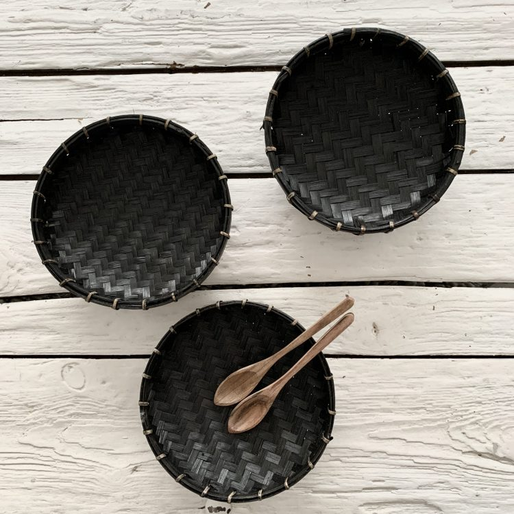 Bamboe Offerschaaltje Zwart