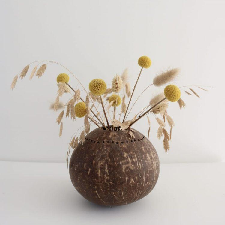 Kokosnoot bruin vaasje