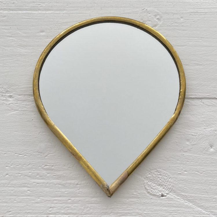 Spiegel dunne rand druppelvorm