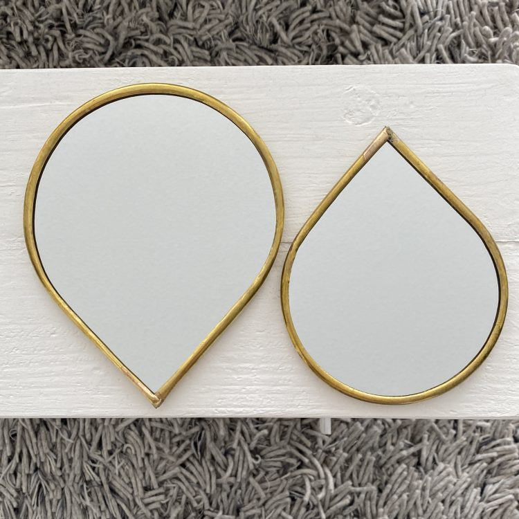 Spiegel druppel dunne rand