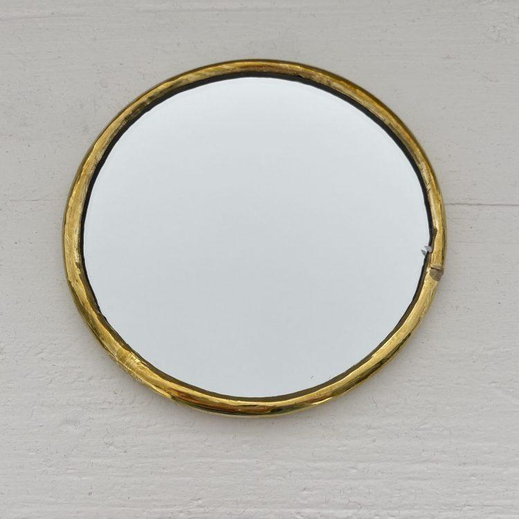 Spiegel Rond Messing Dunne Rand