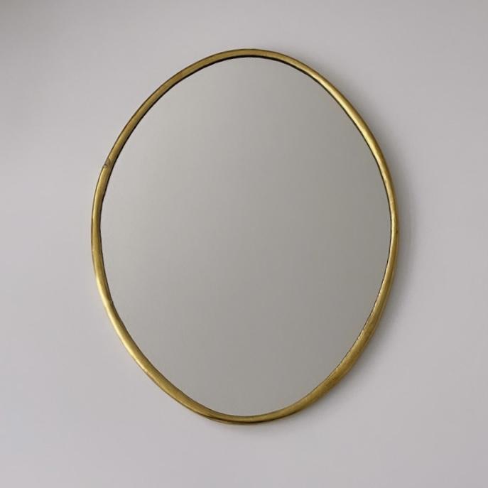 Spiegel ovaal dunne rand