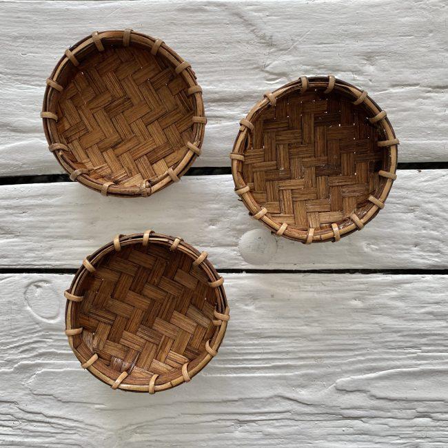 Bamboe offerschaaltjes xs bruin