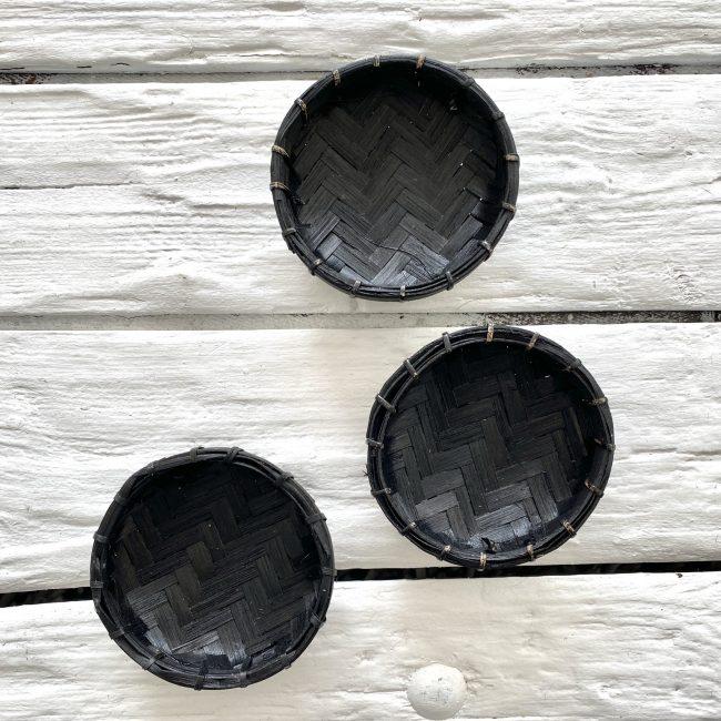 Bamboe offerschaaltjes xs zwart