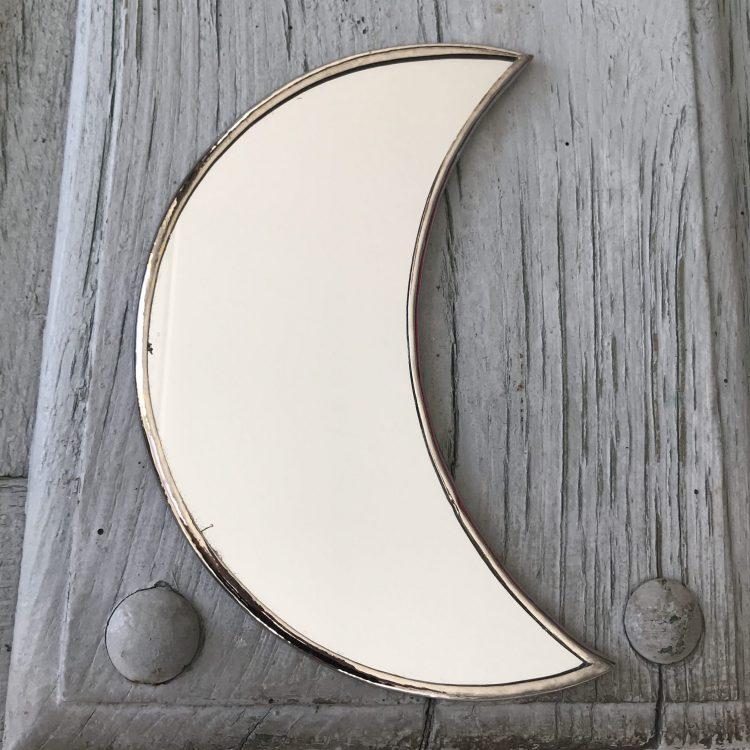Spiegel maan zilverkleurig
