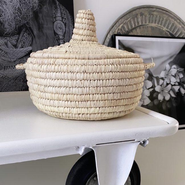 Basket Palmblad Met Deksel