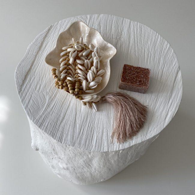Cadeauset; Hamsa Handje, Geurblokje en Kauri Ketting Kwastje