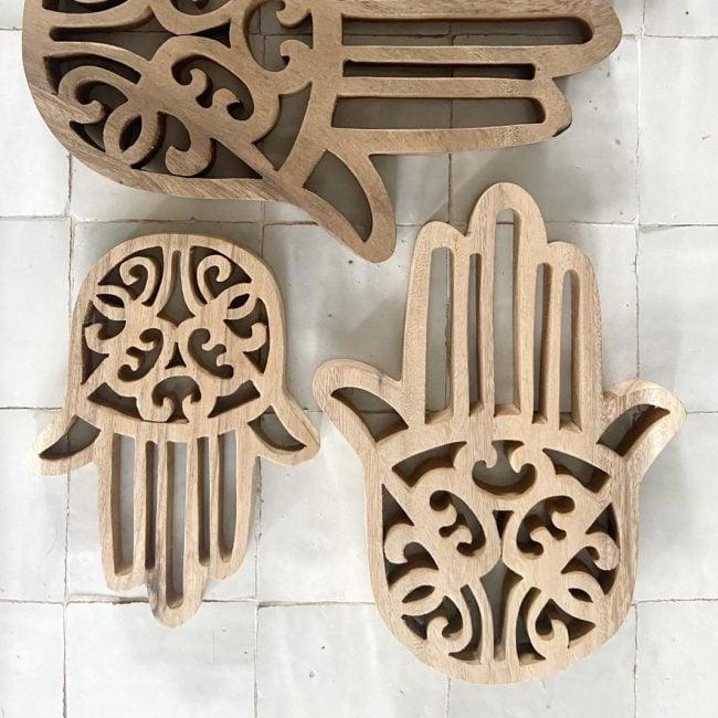 Woodcarving Hamsa Hand